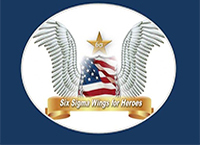 The Six Sigma Wings for Heroes Logo